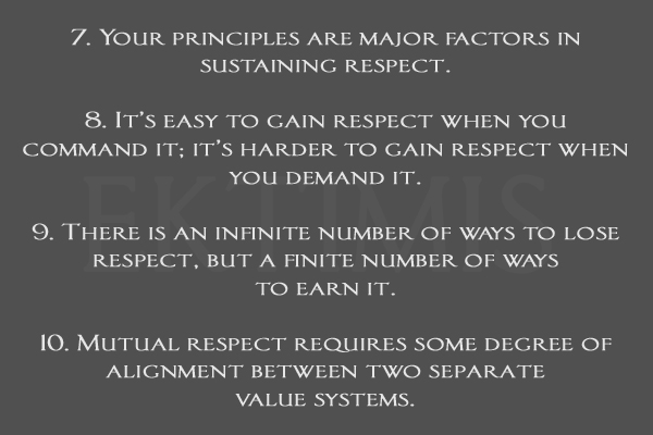 The Top Ten Laws of Respect - A Personal Guide