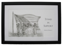 EKTIMIS Artifact - Respect Themed Framed Picture - Military Special Edition - Stand in Support