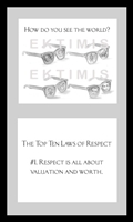 EKTIMIS Artifact - Respect-Themed Framed Picture - The Top Ten Laws of Respect