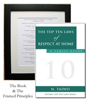 EKTIMIS Artifact - Respect-Themed Framed Picture - The Top Ten Laws of Respect at Home and Book Combo