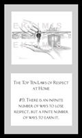 EKTIMIS Artifact - Respect-Themed Framed Picture - The Top Ten Laws of Respect at Home