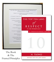 EKTIMIS Artifact - Respect-Themed Framed Picture - The Top Ten Laws of Respect in the Workplace and Book Combo