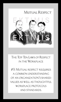 EKTIMIS Artifact - Respect-Themed Framed Picture - The Top Ten Laws of Respect in the Workplace
