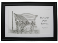EKTIMIS Artifact - Respect Themed Framed Picture - Military Special Edition - Salute to the Flag