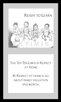 EKTIMIS Artifact - Respect-Themed Framed Picture - The Top Ten Laws of Respect at Home - Precious Babies